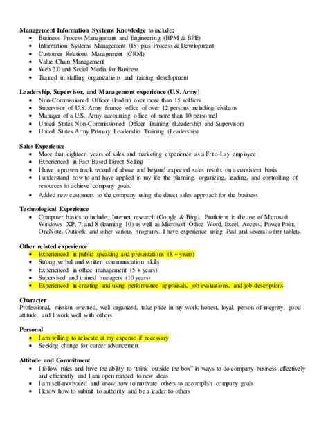 Leadership Experience On Resume Sles by Human Resources Cover Letter 1 And Resume Sales And