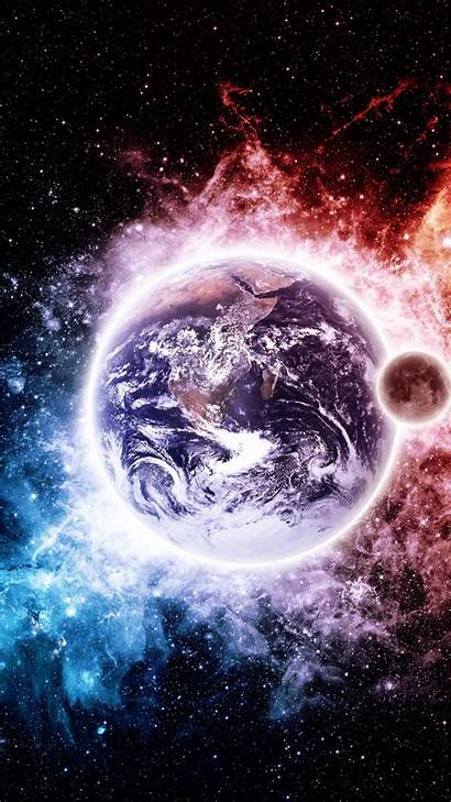 Earth Wallpapers Iphone Moon Space Icon Galaxy