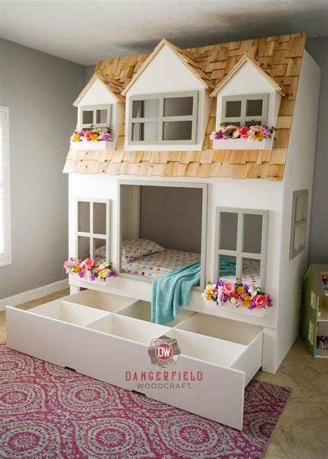 cottage loft bed s country cottage bed loft bunk bed dollhouse or