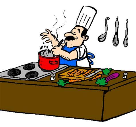 cuisiner en ligne dessin de cuisinier dans la cuisine colorie par membre non