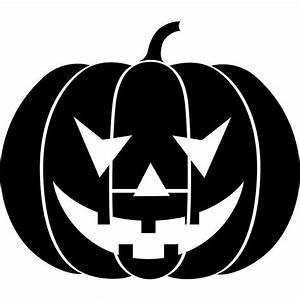 Grinning, Pumpkin, Stencil