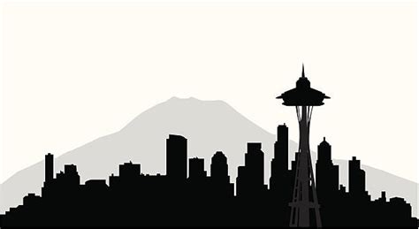 seattle illustrations royalty  vector graphics
