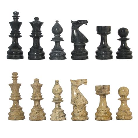 marble pieces black coral deluxe style marble chess pieces