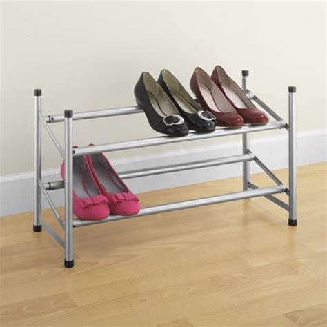 walmart shoe rack mainstays expandable stackable shoe rack walmart ca
