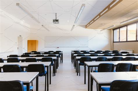 empty classroom education  creative market