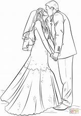 Coloring Groom Bride Pages Printable Draw Drawing Step Barbie Sheets Tutorials Supercoloring Colouring Books Adult Adults Colours Crafts Grooms Visit sketch template