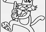 Coloring Krusty Clown Simpsons Printable Getcolorings Getdrawings sketch template