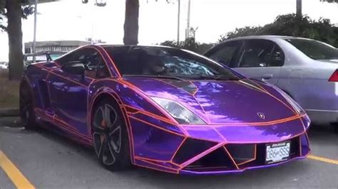 purple chrome tron lamborghini gallardo lp  loud
