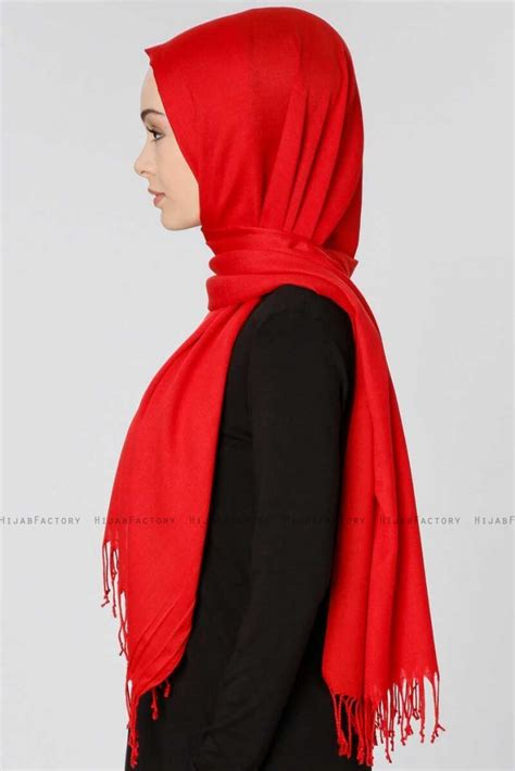 selin rood pashmina hijab oezsoy hijabfactorynl