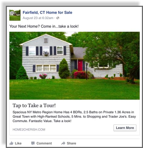 Facebook Real Estate Ad  Jerry Mctigue Copywriter