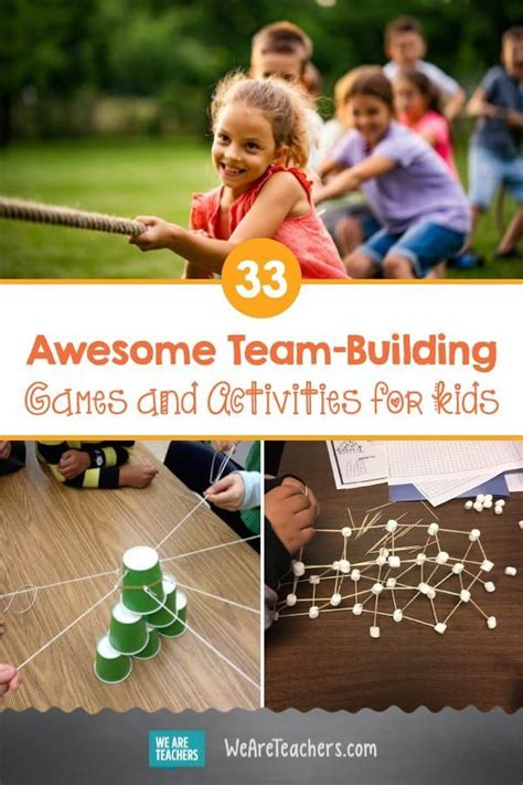 awesome team building games  activities  kids