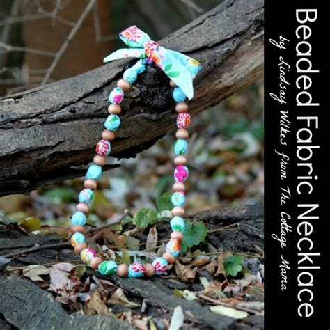 diy beaded fabric necklace easy snappy holiday project