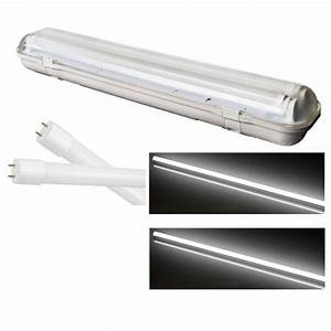 Reglette Neon Led : reglette support etanche a double tube led t8 36w 3600 ~ Melissatoandfro.com Idées de Décoration