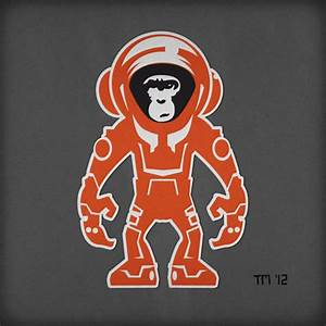 Monkey Astronaut Sticker (page 3) - Pics about space