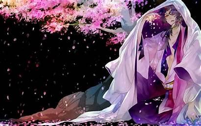 Anime Kimono Guy Boy Cherry Blossom Boys