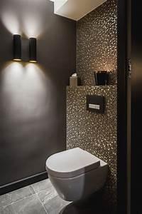 Dekoration Gäste Wc : idee g ste wc mosaik glimmer dunkle w nde schimmer glas gold kombination fliese und ~ Buech-reservation.com Haus und Dekorationen