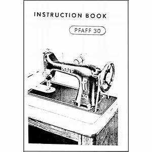 Instruction Manual  Pfaff 30   Sewing Parts Online