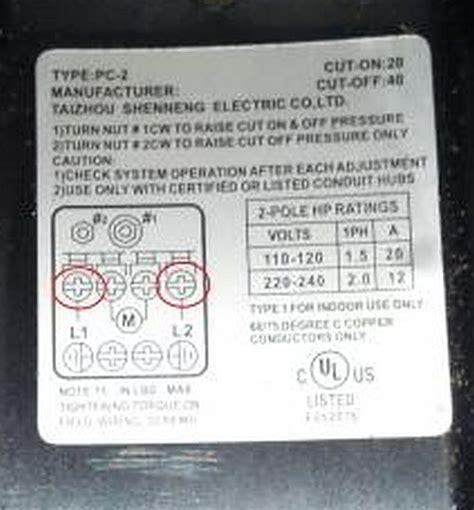 rewiring   pump       wiring