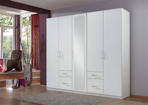 Armoire Fly by Armoire 5 Portes 4 Tiroirs Fly Blanc