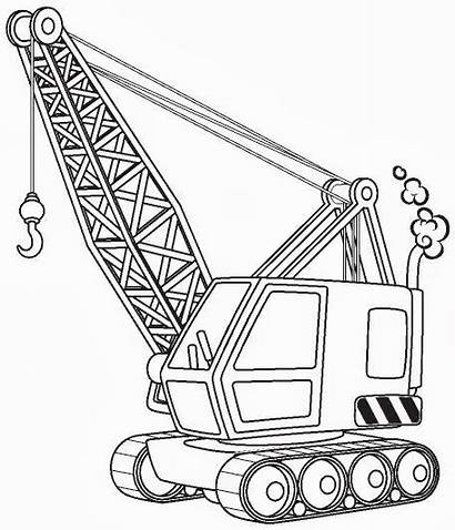 Crane Coloring Construction Pages Truck Printable Colouring