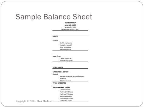sle balance sheet copyright