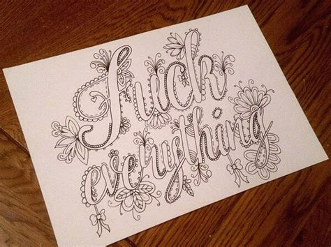 artist creates hilarious sweary coloring book for adults