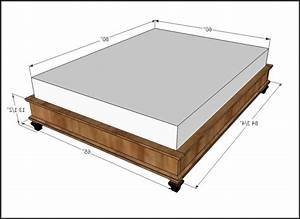 Dimensions For A Queen Size Bed Frame
