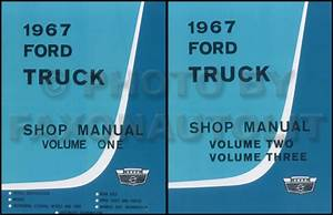 1967 Ford F100 Repair Manuals