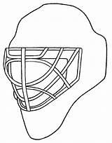 Hockey Mask Coloring Helmet Goalie Drawing Pages Template Drawings Sketch Templates Getdrawings Netart Paintingvalley sketch template