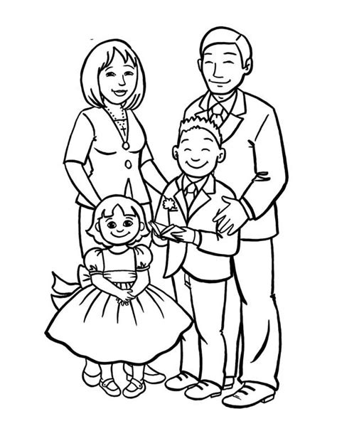 family picture drawing  getdrawings