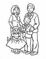 Coloring Draw Drawing Pages Drawings Sketch Happy Members Easy Dad Mom Tree Coloringsky Sheet Cartoon Sky Member Preschool Na Fun sketch template
