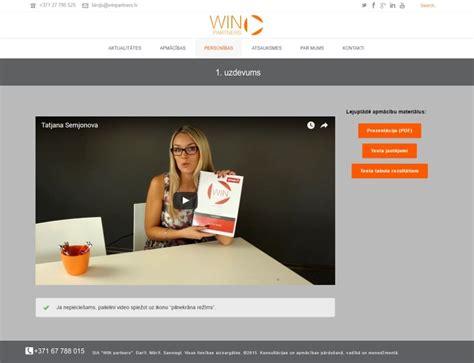 Video mācību bloka izveide WINpartners mājas lapā. Demo ...