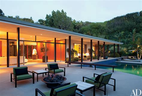 midcentury home  beverly hills receives  modern