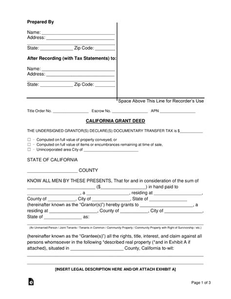 mn conveyance forms free california grant warranty deed form word pdf