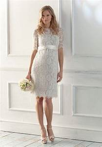 Casual short lace wedding dresses for casual outdoor for Short casual wedding dresses