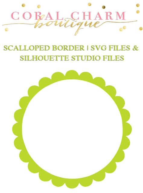 Scalloped Circle Border Graphic for Cutting Machines SVG and