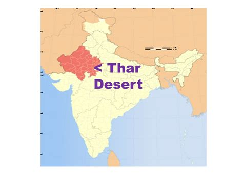 thar desert location india map ppt video online download