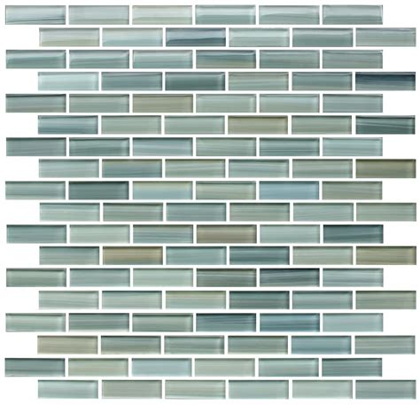 reflections painted glass mosaic subway tile rocky
