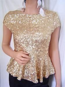 Top Occasion : new bebe gold sequin peplum evening occasion top m l 197664 ebay ~ Gottalentnigeria.com Avis de Voitures