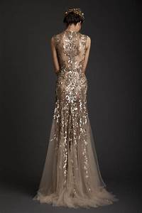 Gold wedding dresses chwv for Golden wedding dresses
