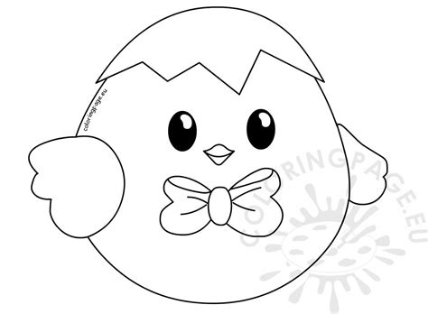 cute baby easter chick printable coloring page