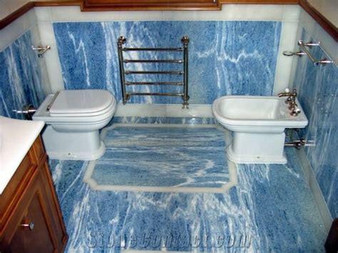 Azul Bahia Bath Design, Blue Granite from Italy