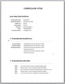 Plantilla Curriculum Vitae Word Basico Cover Letter Template