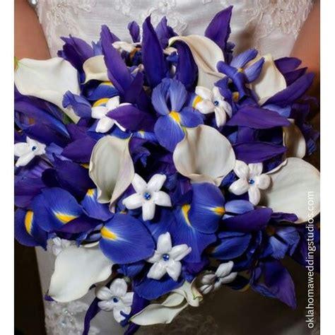 Beautiful Bridal Flowers Of Blueyellow Iris Large White