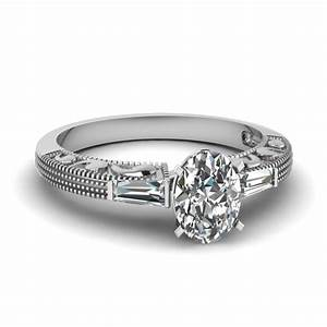 half carat vintage baguette three stone diamond engagement With baguette diamond wedding ring