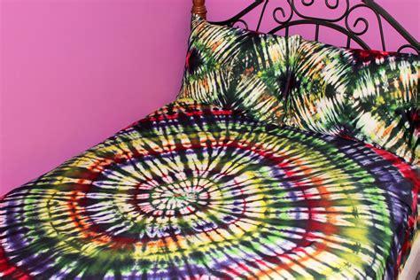 psychedelic tie dye queen sheet set cotton sheets tie dye