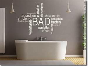 Wandtattoo Bad Günstig : wandtattoo bad verschiedene w rter zum thema wellness ~ Markanthonyermac.com Haus und Dekorationen
