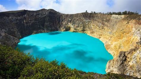 Three Striking Crater Lakes of Varying Colors ? Design