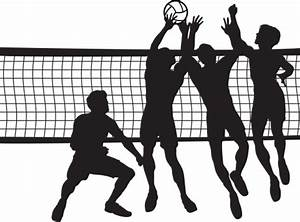 Volleyball men clipart