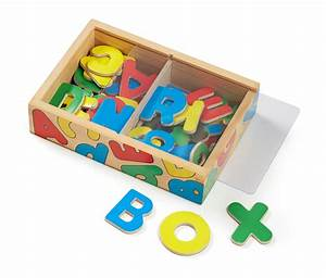 amazoncom melissa doug wooden alphabet magnets With wooden letters toys